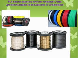 . PLA-пластик высокого качества толщиной 1,75мм для использования на большин