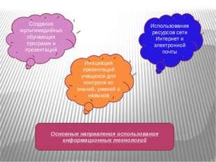 Использование ресурсов сети Интернет и электронной почты Инициация презентаци