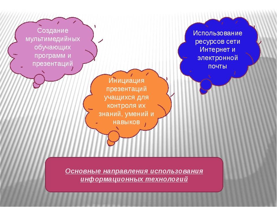 Использование ресурсов сети Интернет и электронной почты Инициация презентаци...