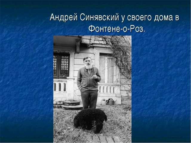 Андрей Синявский у своего дома в Фонтене-о-Роз.