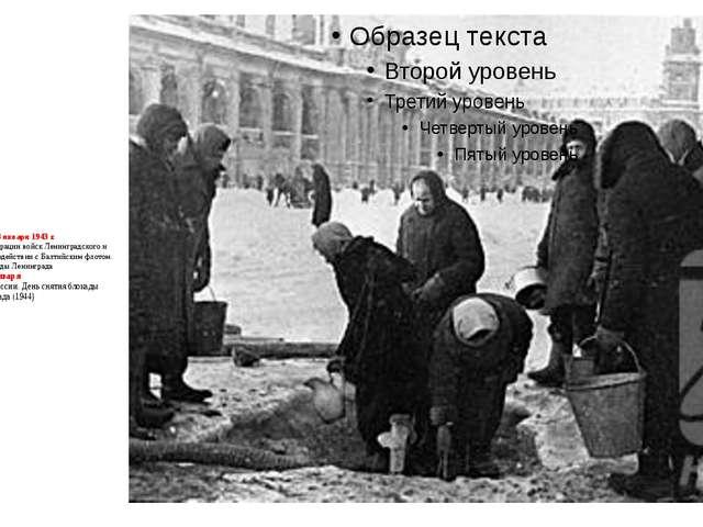 12 января – 18 января 1943 г. – Начало наступательной операции войск Ленингра...
