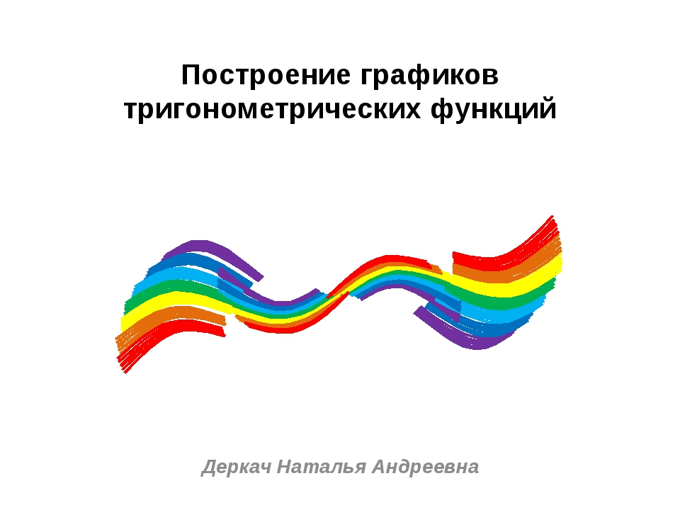 Построение графиков тригонометрических функций Деркач Наталья Андреевна