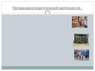 Организация педагогической деятельности