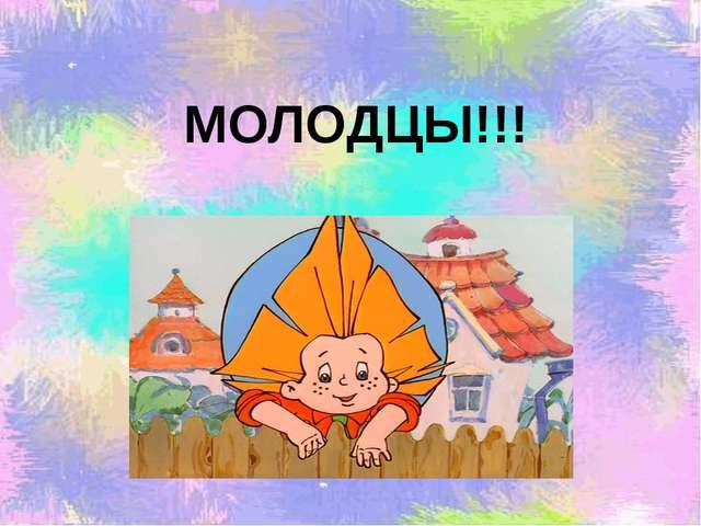 МОЛОДЦЫ!!! Кузьмина О.Н. учитель 1квалификационной категории МКОУ «НОШ №13»