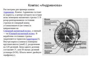 Компас «Андрианова» Рассмотрим для примера компас Адрианова. Компас Адрианова