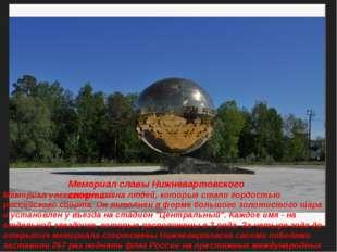 Мемориал славы Нижневартовского спорта Мемориал увековечил имена людей, котор