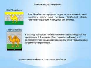 Символика города Челябинска Флаг Челябинска Флаг Челябинского городского окру
