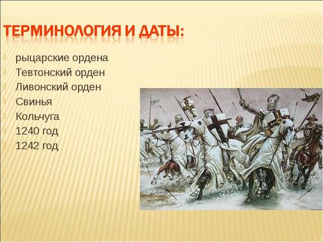 рыцарские ордена Тевтонский орден Ливонский орден Свинья Кольчуга 1240 год 1...