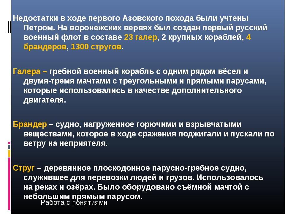 Недостатки в ходе первого Азовского похода были учтены Петром. На воронежских...