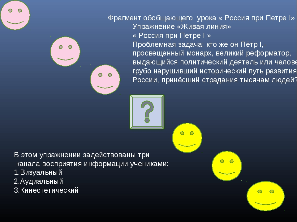 Упражнение «Живая линия» « Россия при Петре I » Проблемная задача: кто же он...