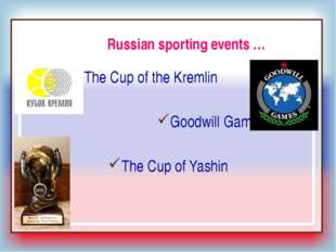 Ex.5 p.39: Write a short text about a famous sporting event in your country (