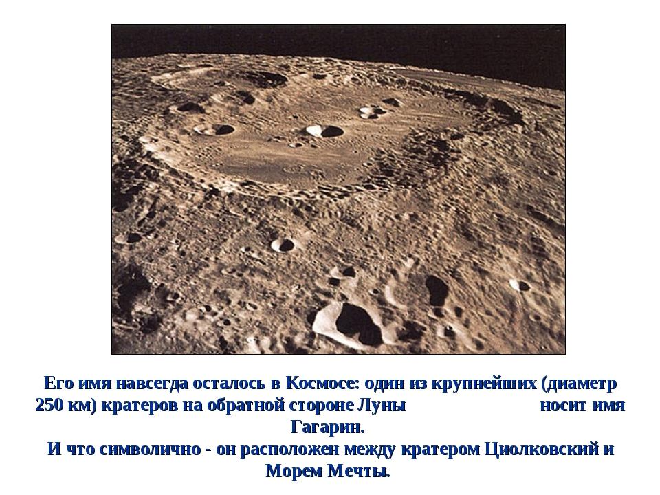 Его имя навсегда осталось в Космосе: один из крупнейших (диаметр 250 км) крат...