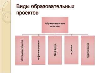 Виды образовательных проектов