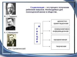 Ф. Г. Гиддингс В.А. Сухомлинский А. С.Макаренко коммуникативно-информационная