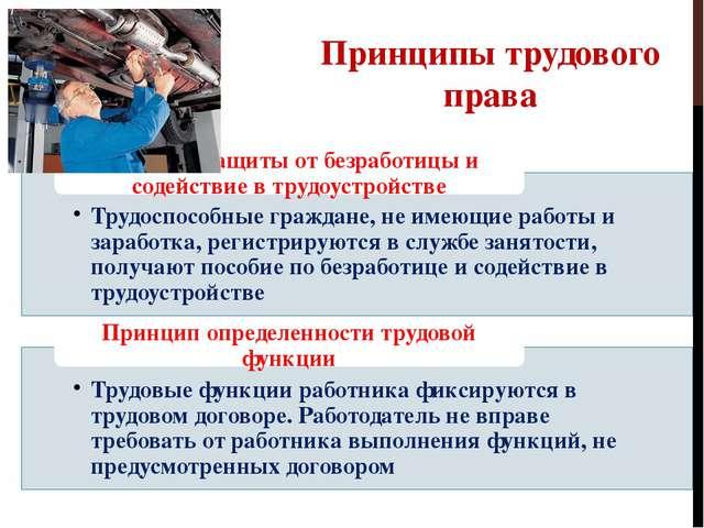 Принципы трудового права