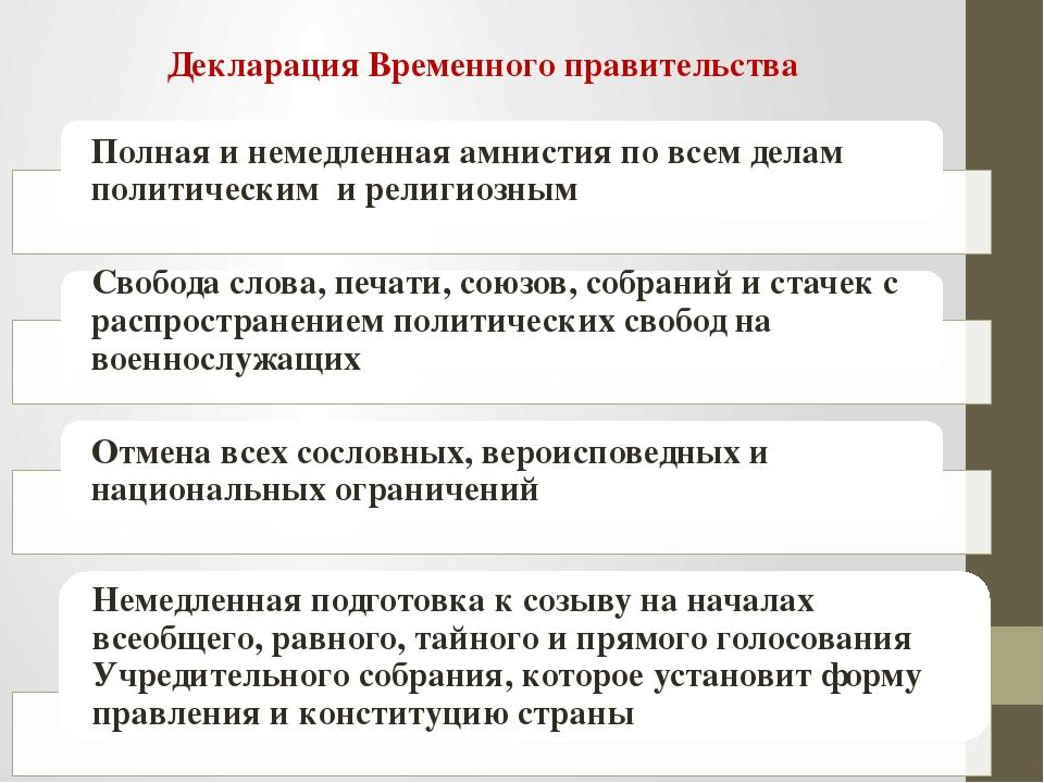 Декларация Временного правительства