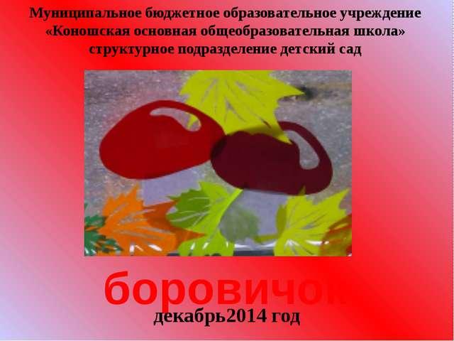 Муниципальное бюджетное образовательное учреждение «Коношская основная общеоб...