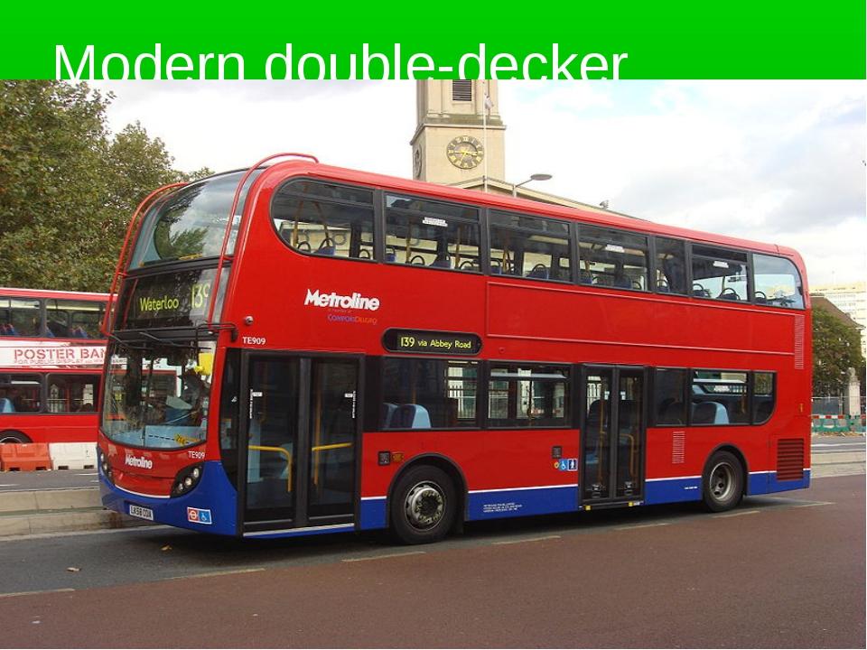 Modern double-decker
