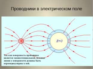 Проводники в электрическом поле Все внутренние области проводника, внесенного