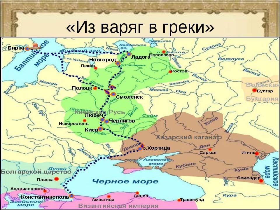 Путь из варяг в греки схема