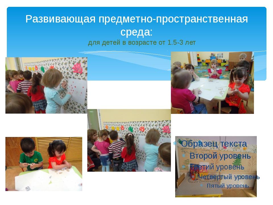 Развивающая предметно-пространственная среда: для детей в возрасте от 1.5-3 лет