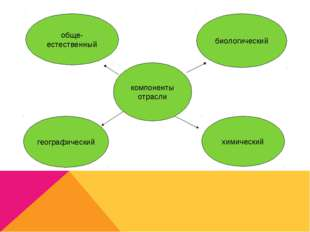 компоненты отрасли биологический географический химический обще- естественный