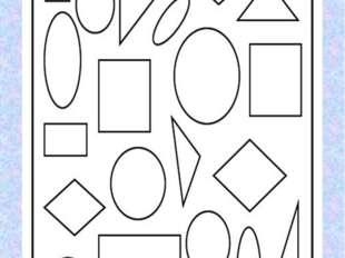 1задание Посчитай сколько геометрических фигур? Здесь квадратов сколько? про