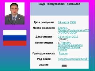 Заур Таймуразович Джибилов  Дата рождения24марта1986 МесторожденияБесл