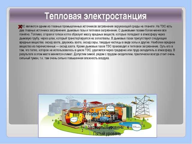 ТЭС являются одним из главных промышленных источников загрязнения окружающей...