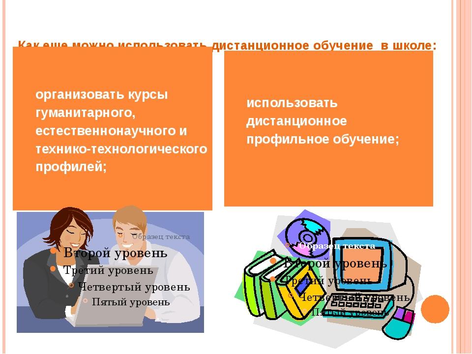 Как еще можно использовать дистанционное обучение в школе: организовать курсы...