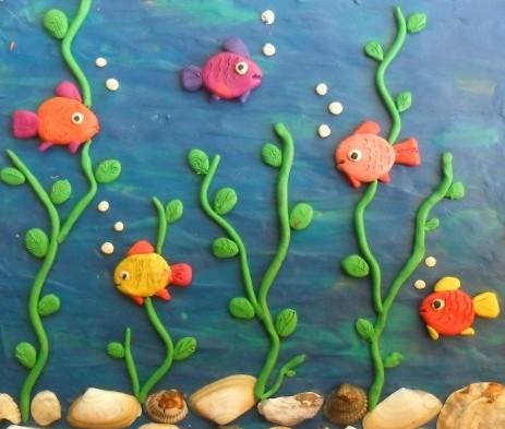 Картины из пластилина своими руками для детей мастер класс