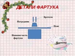 ДЕТАЛИ ФАРТУКА