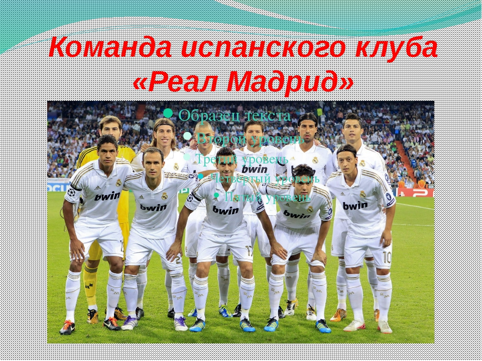 Команда испанского клуба «Реал Мадрид»