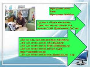 Сайт детских презентаций http://viki.rdf.ru/ Сайт для воспитателей www.maam.