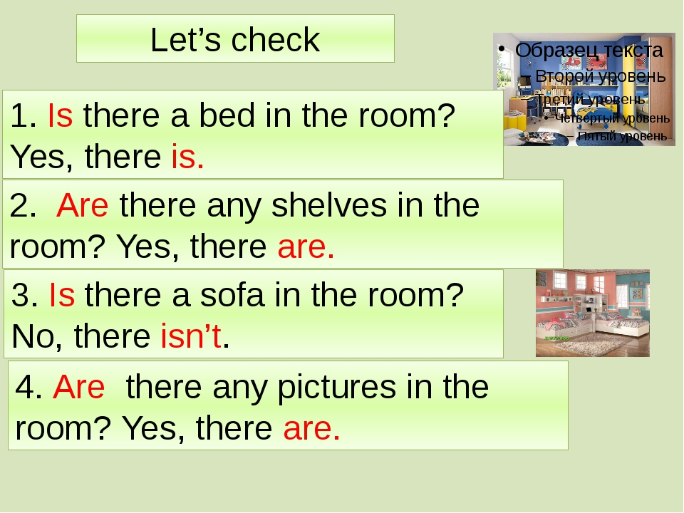 Let's check 1. Is there a bed in the room? Yes, there is. 2. Are there any sh...