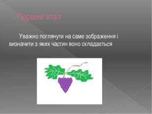 Перший етап Уважно поглянути на саме зображення i визначити з яких частин вон