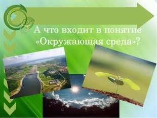 А что входит в понятие «Окружающая среда»?