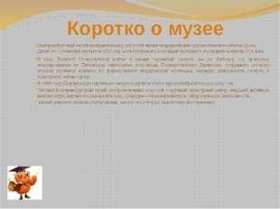 Коротко о музее Екатеринбургский музей изобразительных искусств является кру