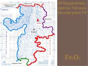 28 Бурая речка, приток Увельки бассейн реки Уй Fe2O3 28 Fe2O3