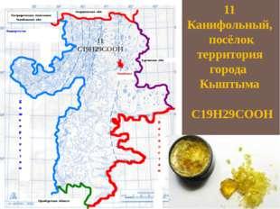 11 Канифольный, посёлок территория города Кыштыма С19Н29СООН 11 С19Н29СООН