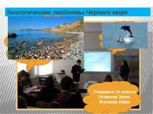 Экологические проблемы Черного моря Учащиеся 11 класса Османов Эмин, Мусаева