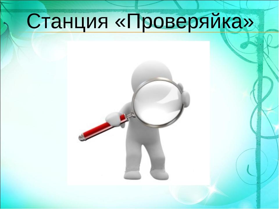 Станция «Проверяйка»