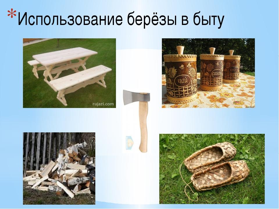 Использование берёзы в быту