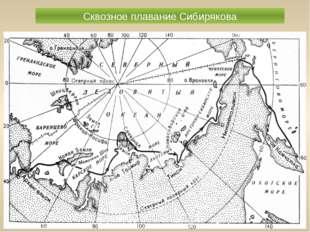 Сквозное плавание Сибирякова