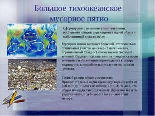Большое тихоокеанское мусорное пятно Сформировано океаническими течениями, по
