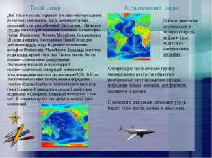 Следующую по значению группу минеральных ресурсов образуют прибрежные месторо