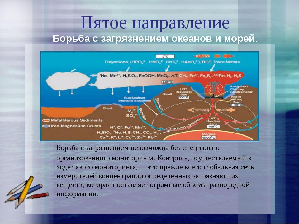 Пятое направление Борьба с загрязнением невозможна без специально организова...
