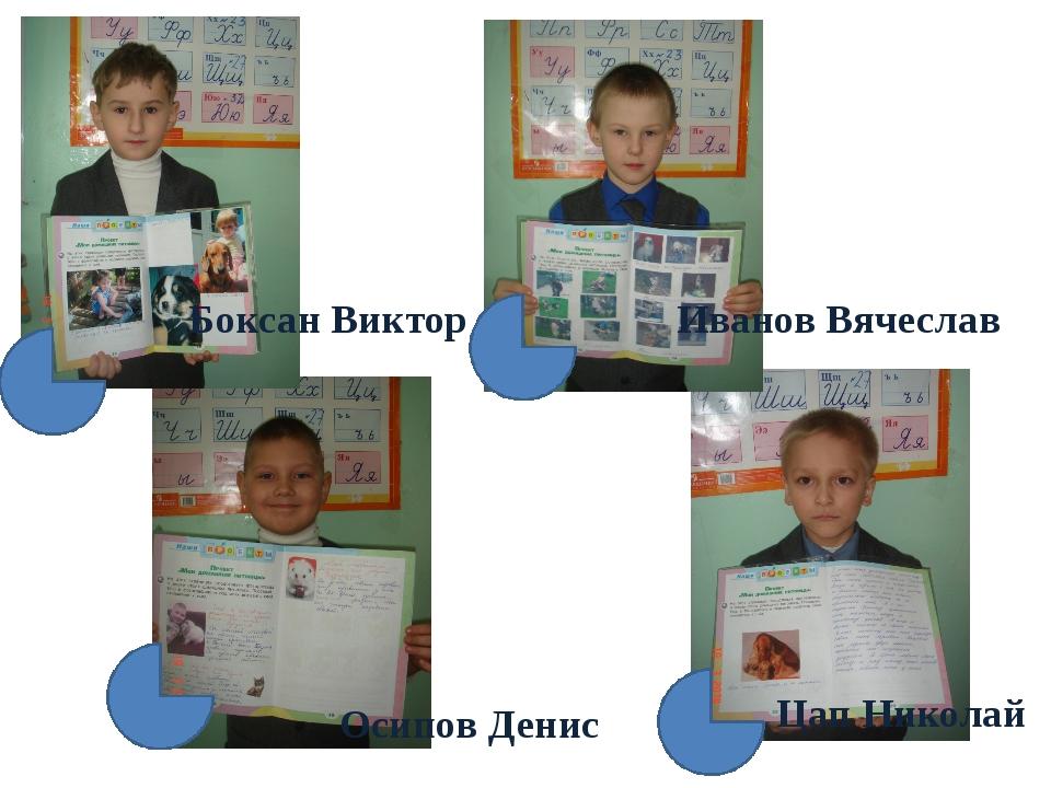 Боксан Виктор Иванов Вячеслав Осипов Денис Цап Николай