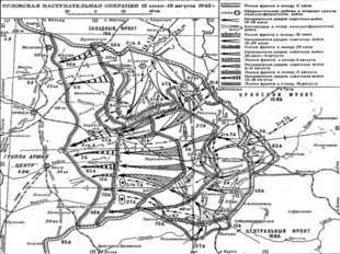 Замысел Орловской операции сводился к тому, чтобы концентрическими удар