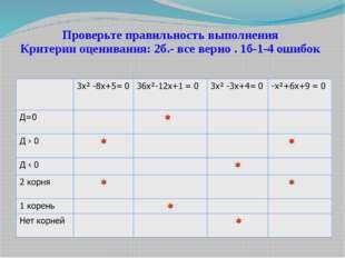 Проверьте правильность выполнения Критерии оценивания: 2б.- все верно . 1б-1-